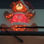 Our Christmas Bear, Ted, sat on our dashboard every night during the holidays