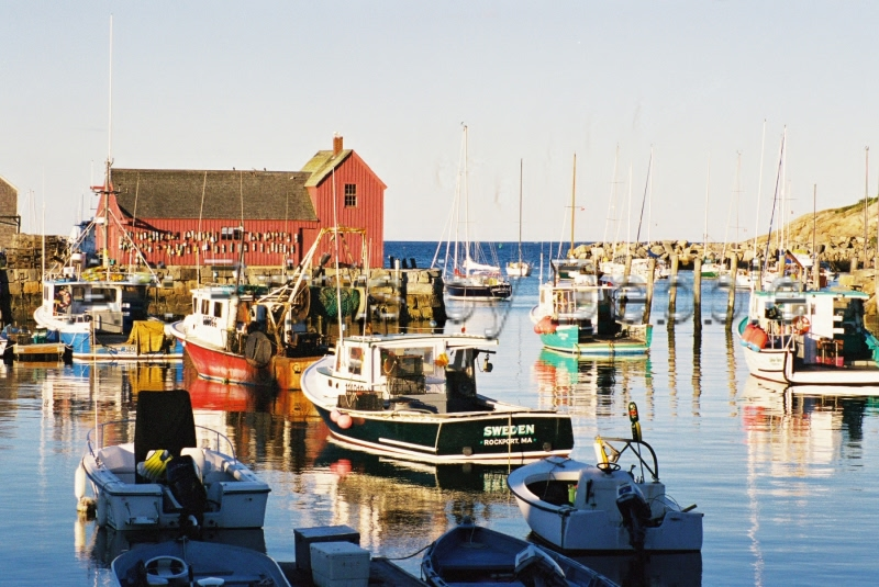 "Rockport, Maine. I have a friend whose brother in law is a lobster fisherman here. I get to go fishing with him one day if I can wake up early enough. I wouldn't miss it for the world! Another ""Interesting American."""