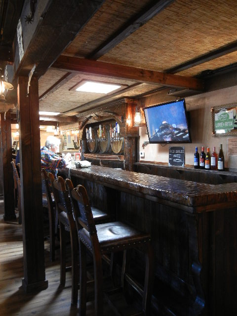 Inside the Outlaw Saloon.