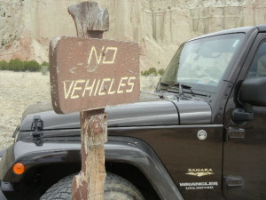 No, I didn't go off-road here. There are plenty of places where it's permitted.
