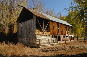 Vintage barn in Morgan, Utah. A beautiful place to camp for a week!