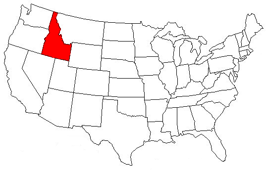 Where Is Idaho On The Map MAP - Idaho us map