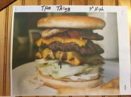 "Local kids are preparing for Nettie's ""Colossal Burger Challenge"" by ordering ""The Thing."" It's already on the menu."