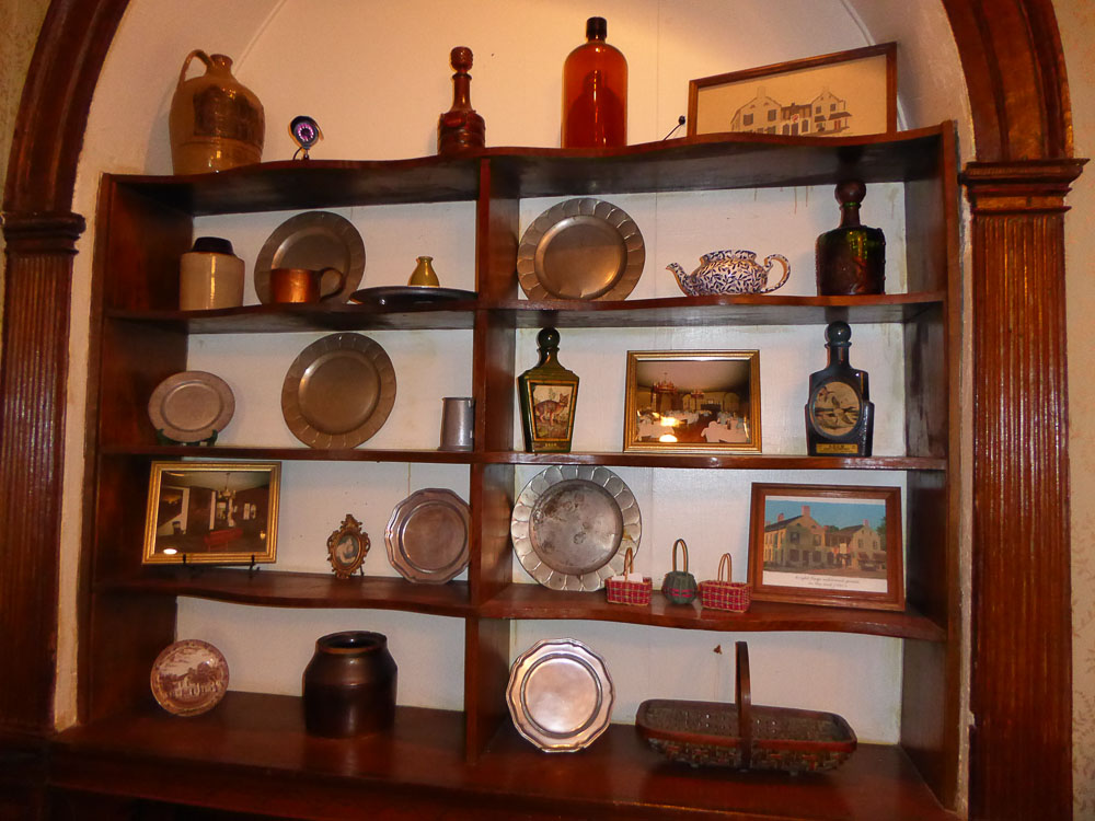 Antiques on display.